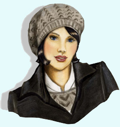 Damen-Strickmütze