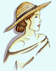 Damen-Strohhut